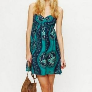 Free People Eternal Spring Teal Babydoll Dress